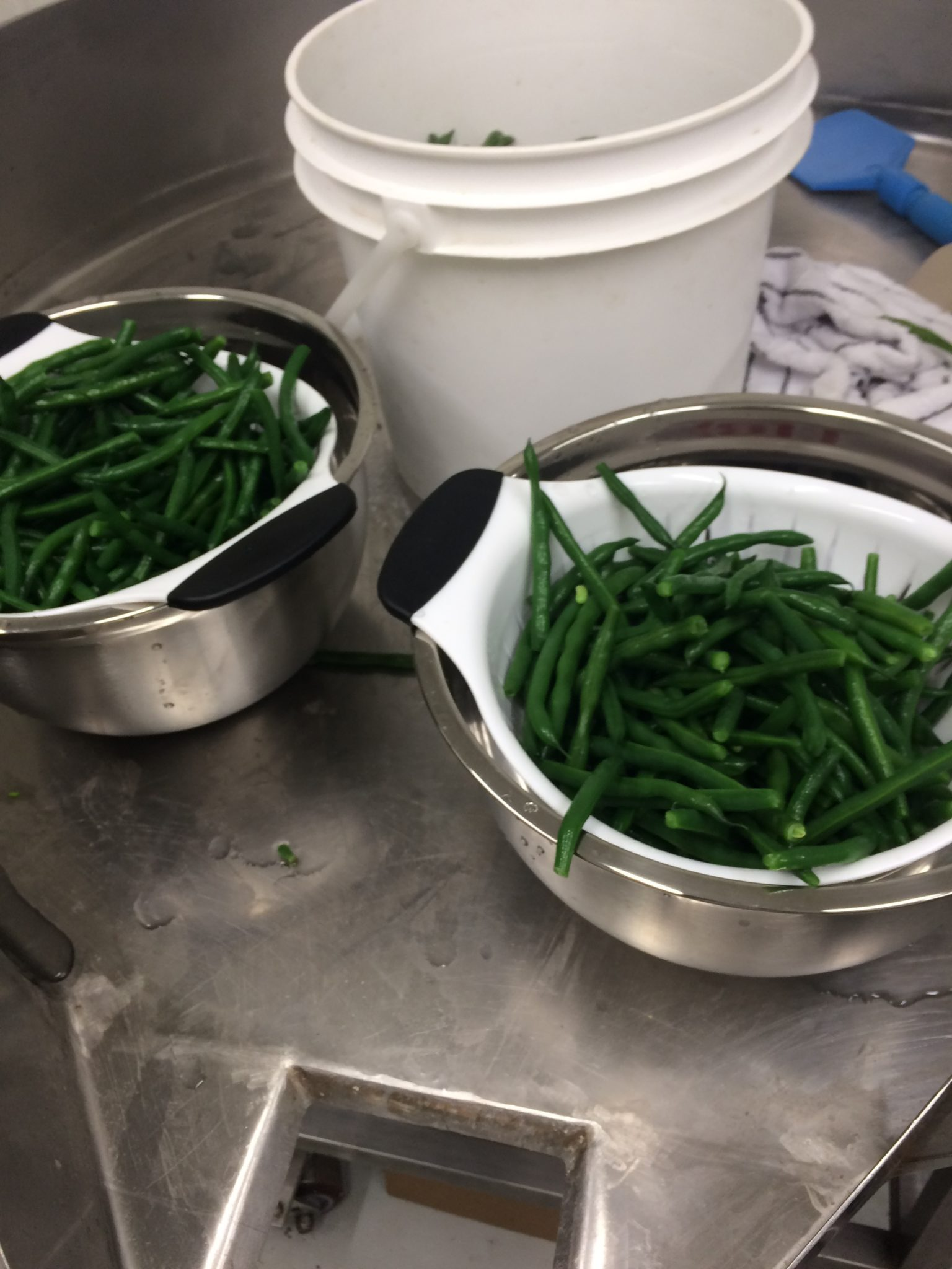 drying green beans after blanching