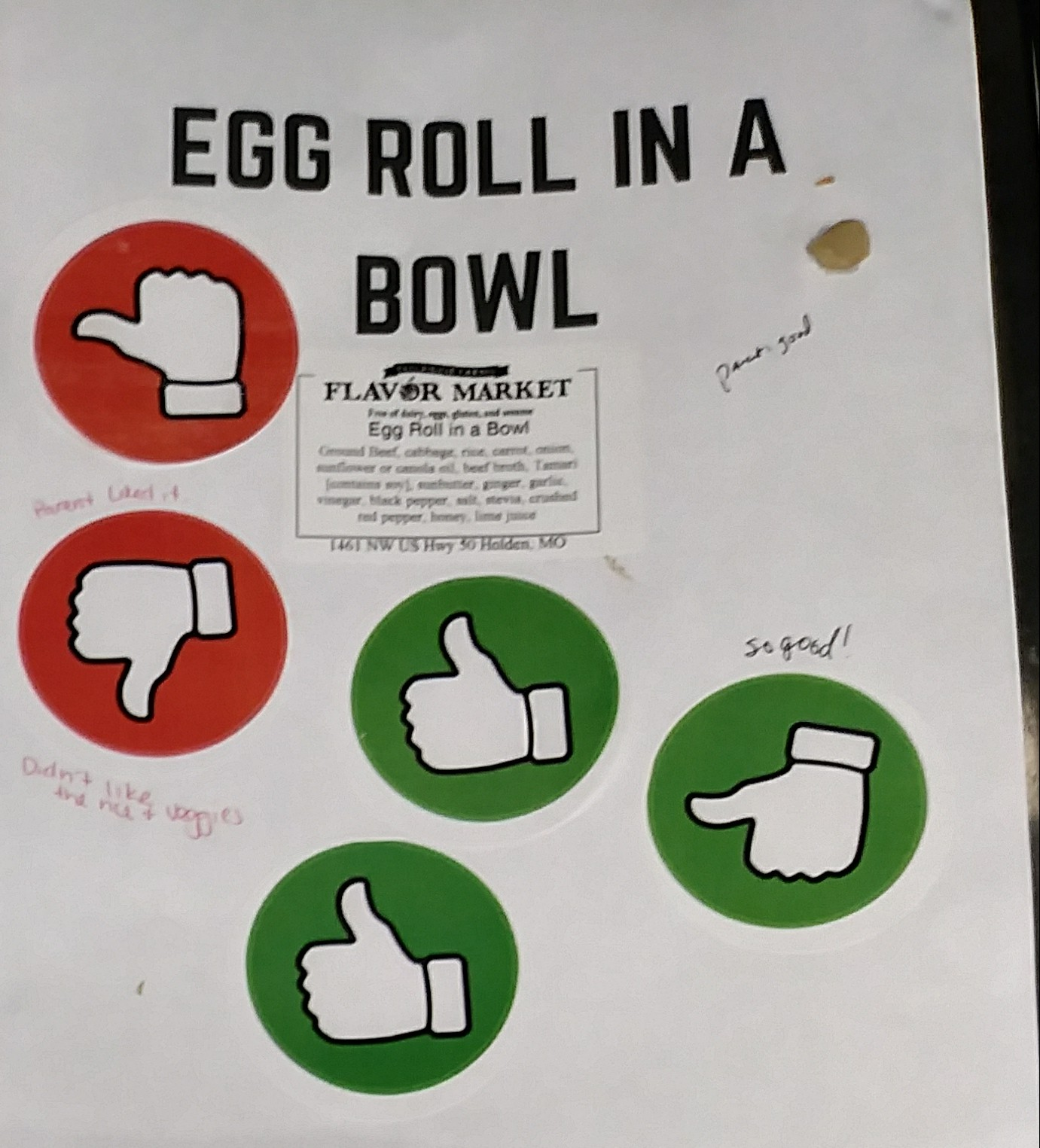 6student eval of egg roll